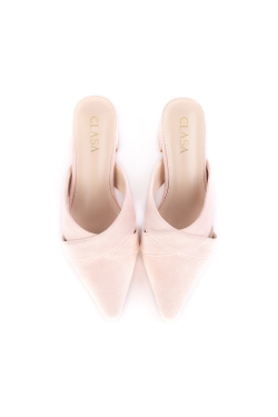 Aria Low Heels Mules - Light Pink