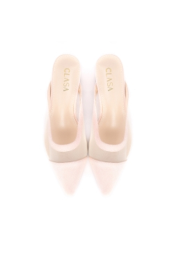 Bella Low Heels Mules - Light Pink