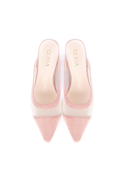 Bella Low Heels Mules - Pink