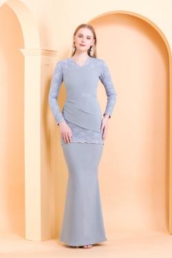 Alaya Kurung (Pastel Blue)