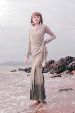 Azalea Kurung (Sage Green)