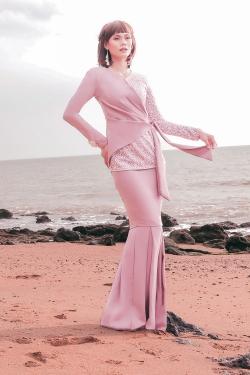 Azalea Kurung (Rose Beige)