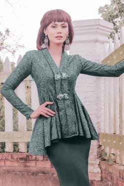Gabrielle Kebaya Modern (Emerald Green)