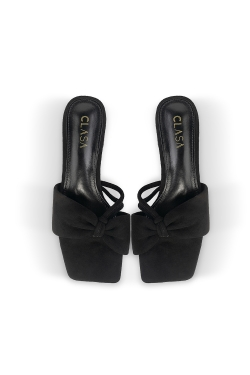 Ivy Low Heels Mules - Black
