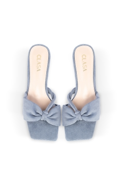 Ivy Low Heels Mules - Blue