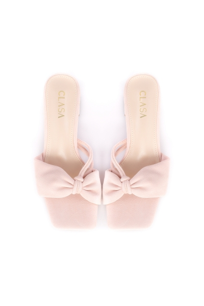 Ivy Low Heels Mules - Light Pink