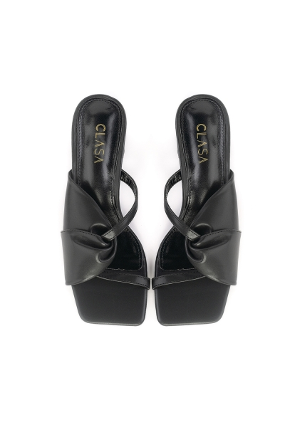 Milly Low Heels Mules - Black