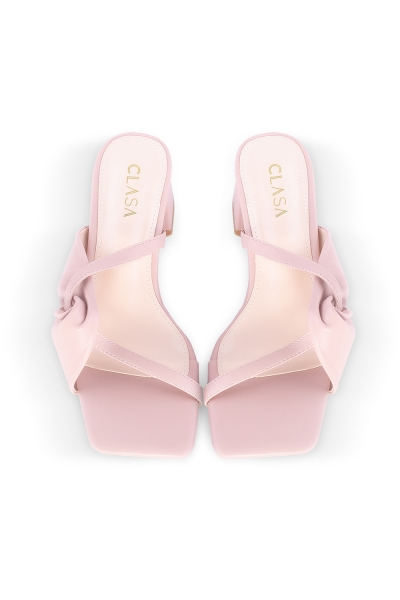 Milly Low Heels Mules - Pink