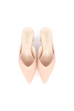 Sandy Low Heels Mules - Pink