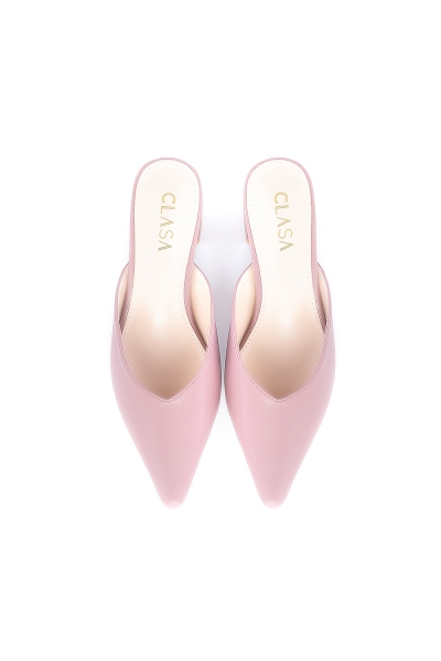 Sandy Low Heels Mules - Mauve