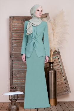 Agnes Kurung - Mint Green